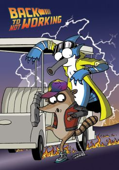Regular Show Back to the Future by VernonDraws