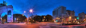 Grand Army Plaza Panorama by sp1te