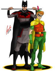 Disney Heroes - Batman and Robin by lapidoth45