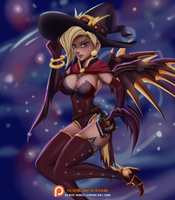 Witch Mercy by Moon-DragonStudio