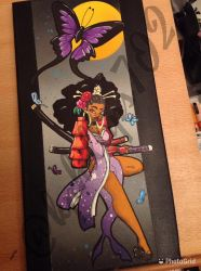 Afro-geisha butterfly, part 1  by KPhillips702