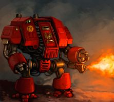 Space Marine Dreadnought by FonteArt