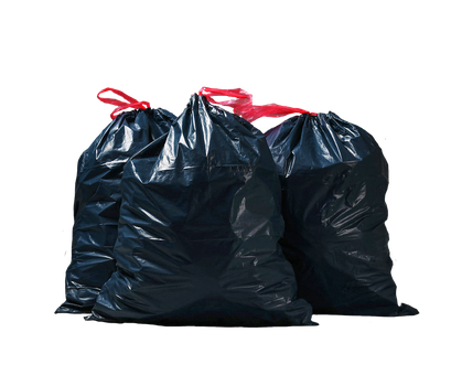 Garbage bags on a transparent background. by PRUSSIAART