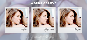 Topaz Clean (Action)|Words of Love by anormalmentejoven