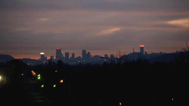 Johannesburg twilight skyline by DJgray87