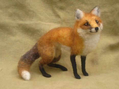 Needle Felted Red Fox by HStiLeS