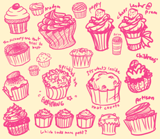 Cupcake Design Exploration by YukoTapioca
