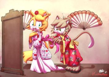 Collab - Kimono Fitting Room by Karneolienne