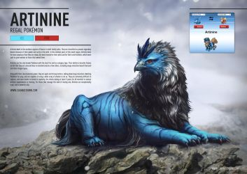 Pokemon Fusion - Artinine by catandcrown
