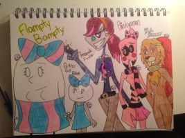 One day at Flampty Bampty's (REDRAW) by Chickie456