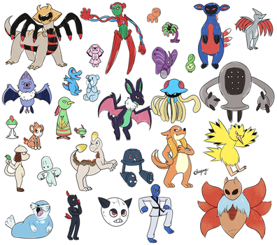 Drawing Pokemon From Memory by Lazy-Sage