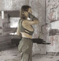 Polina with rifle #6 by ohlopkov
