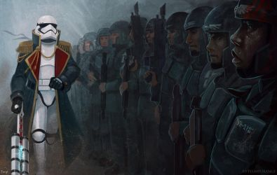 commissar TR-8R searching for a TRAITOR by PlumpOrange