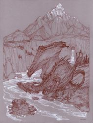 The Coming of Smaug by DonatoArts