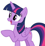 Twilight Sparkle Points Out Something by AndoAnimalia