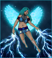 Contest: A Fat Female Superhero by Origami-Butterfly
