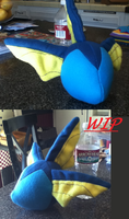Vaporeon Plush WIP by Ami-Plushies