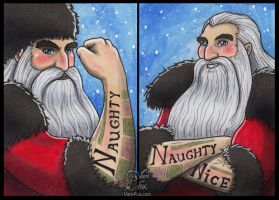 Rise of the Guardians - ACEO Cards North 1+2 by Vani-Fox