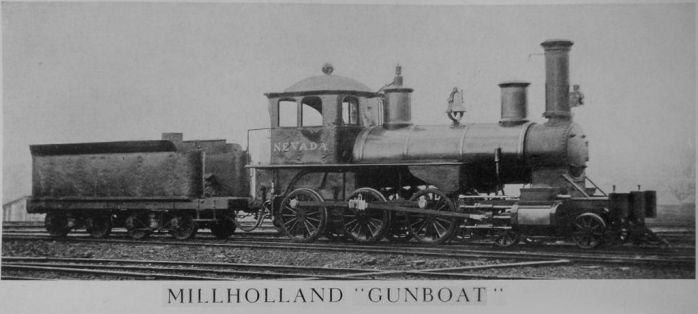 The Nevada, a Millholland Gunboat 4-6-0 by PRR8157