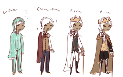 Prince Gabriels Outfit sketchs by Thestar78956