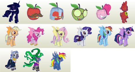 MLP Gameloft Night of the Living Apples by PapercraftKing