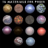 Poser Materials by DemoncherryStock