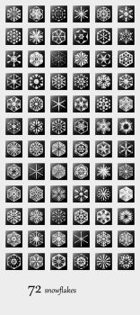 72 Snowflakes by ggillespie