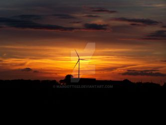 wiev on windmill and sunset by Margott022