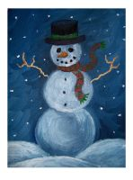 Snowman by StarlitGardens
