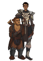 cassandra and varric by frafi