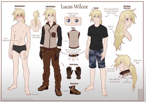 Lucas Wilcox  - Reference Sheet by shorty-antics-27