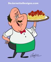 Waiter for The Ricky Gervais Show by DeJarnette