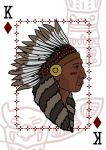 Native American - playing card by FortisUmbrae