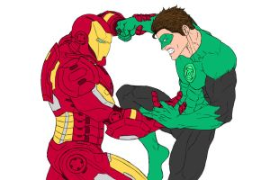 Marvel Vs. DC: Iron Man/Green Lantern by DHK88