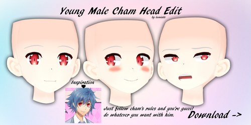 Male Cham Head - Download by Lumialle