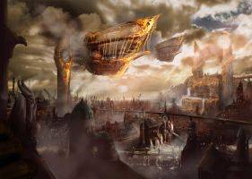 Steampunk City by MaikBeiersdorf