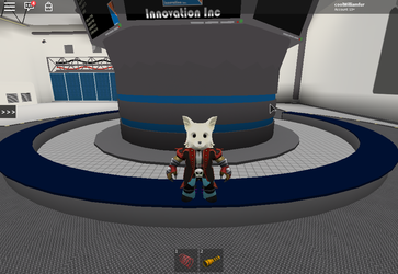 My Avatar Posing In The Lab by williamfoxwolf