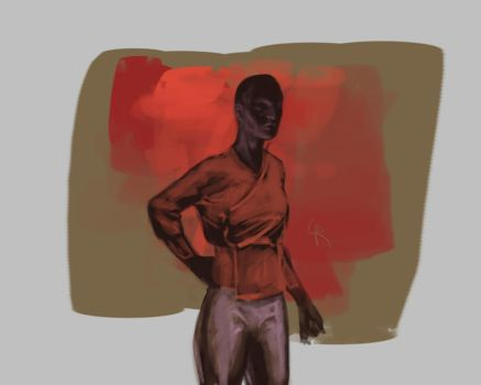 figure sketching, brush effects by the-Loony