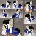 MLP 6 inch mini 'Punisher' inspired beanie {Comm} by RubioWolf