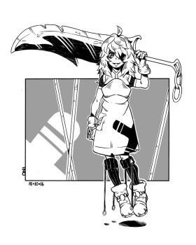 Lady with a cool sword by onibaku15
