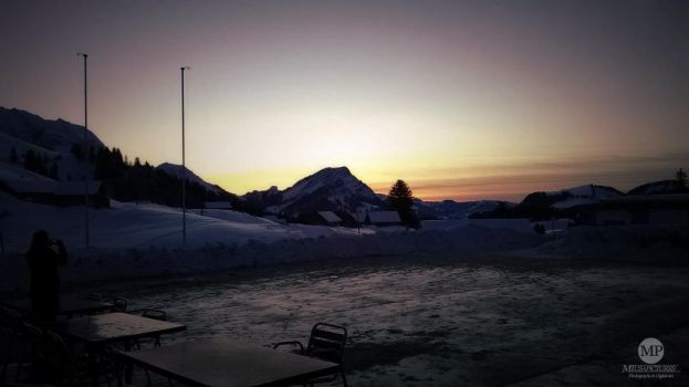 Swiss Alps Sunset by MiusaPictures