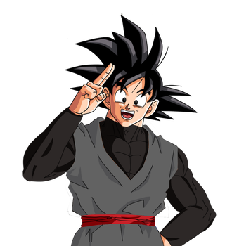 Black Goku Paint by MHMDSYN