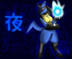 Yoru the Lucario by GameNinja