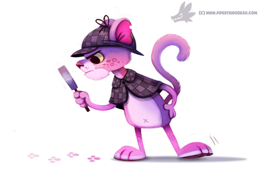 Daily Paint #1042. Pink Panther by Cryptid-Creations