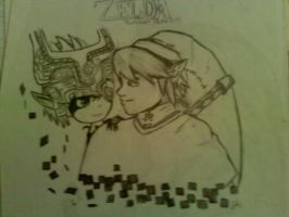 Link and Midna by Fluffyisawolf
