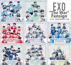 //16082017// 8 Pack Render : EXO The War Fansign by BYjin-D