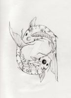 Pisces Koi Tattoo Design by duckey5
