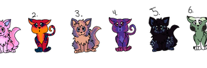 Sparkle Cat Adoptables {Collab}{Open} by SinniVinni
