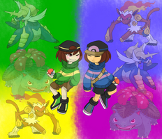 TrainerTale Frisk and Chara by MarioKid1285