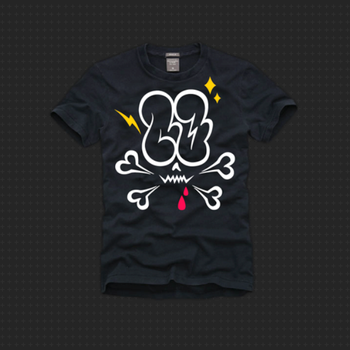 CO throw-up tee by clideone
